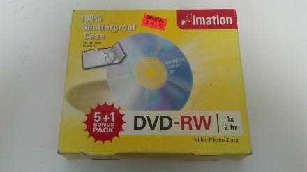 NIP Imation DVD-RW 3 DVD VIDEO PHOTO DATA 4 x 2 HR (Brand New) in Box